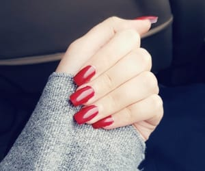 morning, nails, and red colour image