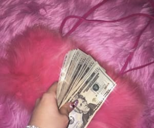 pink, money, and aesthetic image
