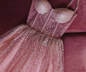 dress, pink, and sparkle image