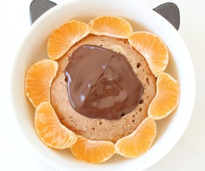 bowl, chocolat, and clementine image