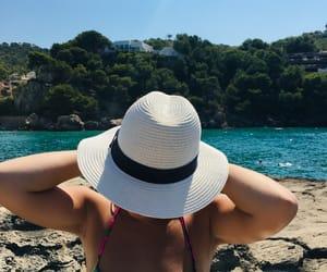 boat, girl, and tan image