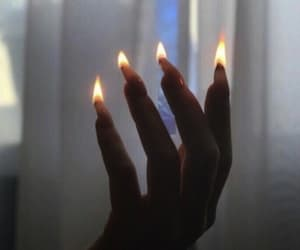 fire, aesthetic, and nails image