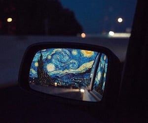 aesthetic, starry night, and van gogh image
