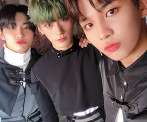 seonghwa, ateez, and san image