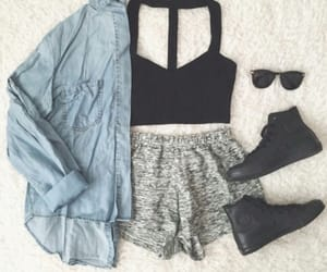 summer and cute outfit image