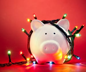 Bank, christmas, and lights image