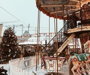 aesthetic, carousel, and christmas image