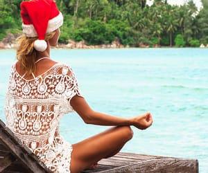 christmas, santa, and tropical image