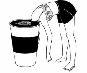 coffee, cup, and drawing image