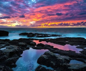 colorful, ocean, and sky image