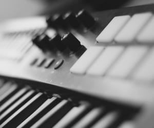 black and white, keyboard, and keys image