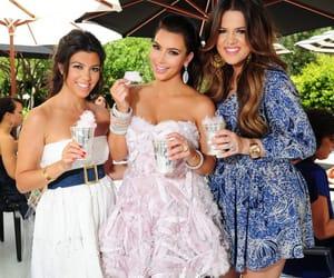 kimkardashian, kourtneykardashian, and khloekardashian image