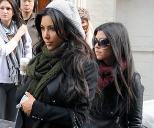 kimkardashian and kourtneykardashian image
