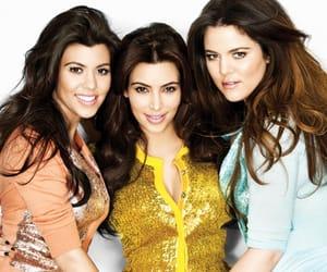 kimkardashian, khloekardashian, and kourtneykardashian image