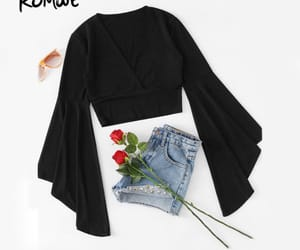 black, blouse, and clothes image
