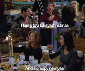 bokeh, chandler bing, and christmas image
