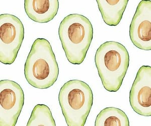 wallpaper, avocado, and pattern image