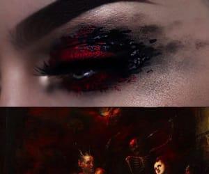 eye, makeup, and inferno image