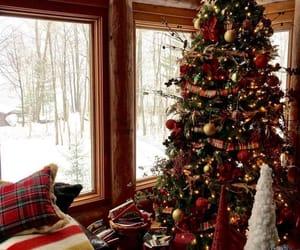 christmas, lights, and cozy image