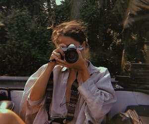camera, girl, and summer image