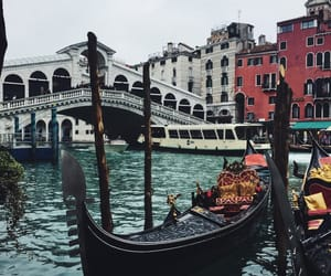 bridge, canal grande, and colours image