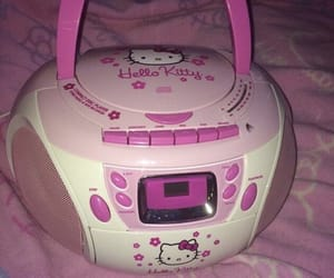 pink, aesthetic, and hello kitty image