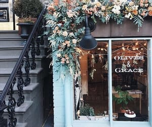 aesthetic, flowers, and architecture image