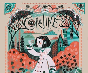 coraline, art, and book image