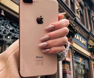 iphone, nails, and beauty image