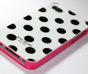 pink, iphone, and kate spade image