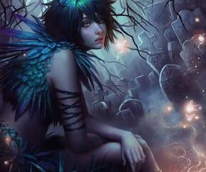 art, fairy, and night image