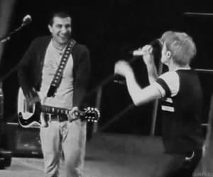 black and white, frank iero, and gif image