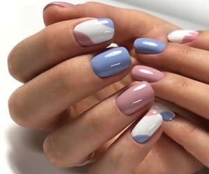 simple, short nails, and nail art image