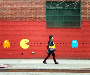 pacman, Pac Man, and street art image