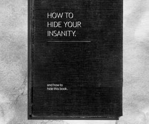 book, insanity, and black image