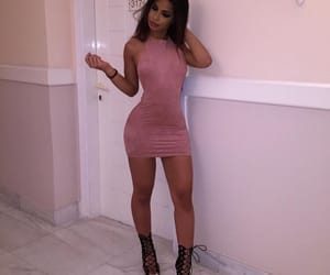 girl, dress, and pink image