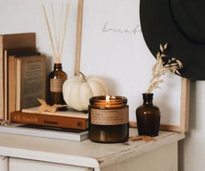 autumn, bedroom, and candle image