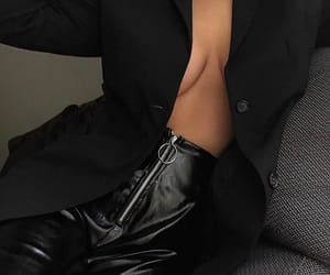 black, lady, and suit image