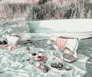 beach, picnic, and theme image