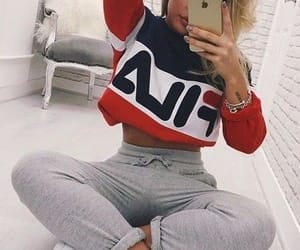 blue, Fila, and outfits image