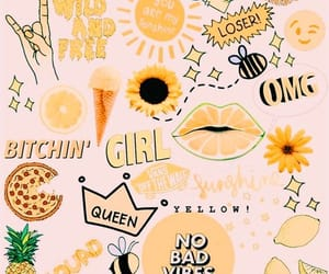 wallpaper, yellow, and aesthetic image