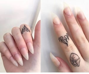 tattoo, nails, and fire image