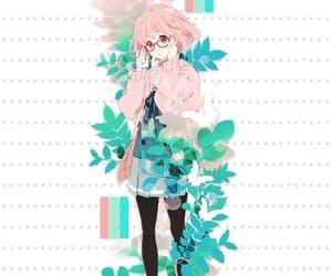 anime, kyoukai no kanata, and mirai kuriyama image