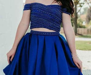 blue homecoming dress, short homecoming dress, and custom homecoming dress image