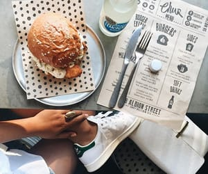 food, burger, and lunch image
