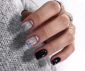 nails, girls, and black image