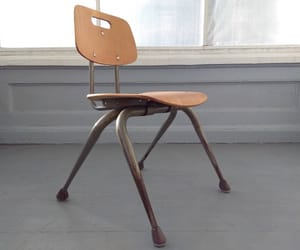 etsy, industrial, and school house chair image