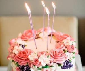 cake, birthday, and pink image
