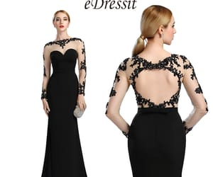 evening dress, gown, and lace image