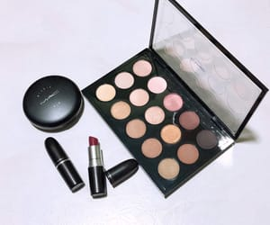 eyeshadow, mac, and mac lipstick image